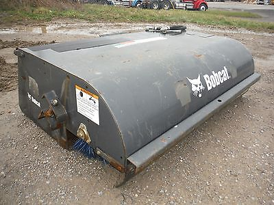 "Used 2013 Bobcat 72"" Hydraulic Sweeper Bucket / Broom Skid Steer Attachment!"