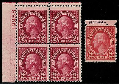 #634b 2¢ CARMINE LAKE PL # BLK/4 F-VF OG NH WITH PSE CERT CV $2,400 WLM3085