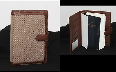 New BROOKS BROTHERS Italy Unisex Leather Journal Agenda Planner 6 Ring Refllble