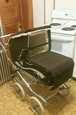 Brown Perego Vintage Stroller  Baby Carriage 1960's Or 1970's EUC