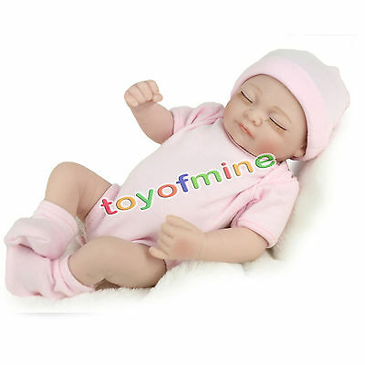 "Handmade Reborn 11"" Real Looking Newborn Baby Girl Vinyl Silicone Realistic Doll"