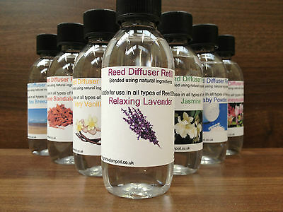 Reed Diffuser Refill 250ml,  Room Fragrance...Various Fragrances Available