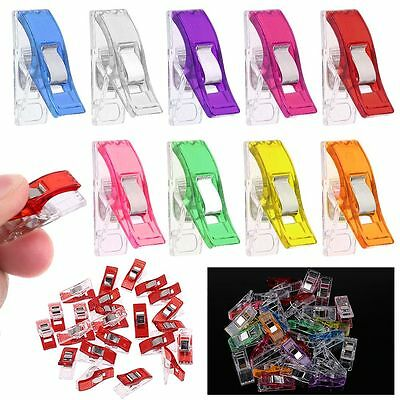 50x 100x Pack Clover Wonder Clips for Crafts Quilting Sewing Knitting Crochet AU