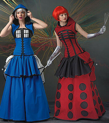 SIMPLICITY 1095 MISSES Dr Who Tardis & Dalek Cosplay Costume Sewing ...