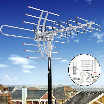 180 Miles HDTV Outdoor Amplified Antenna HD TV Directional UHF/VHF/FM Antenna SK