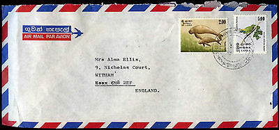 Sri-Lanka 1980's Commercial Air Mail Cover To UK #C40265