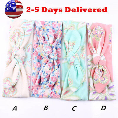 New Cute Girl Baby Toddler Infant 4pcs Flower Headband Hair Bow Band Accessories