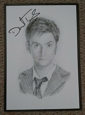David Tennant Dr Who signed 12x8 drawing photo/poster  PROOF AFTAL