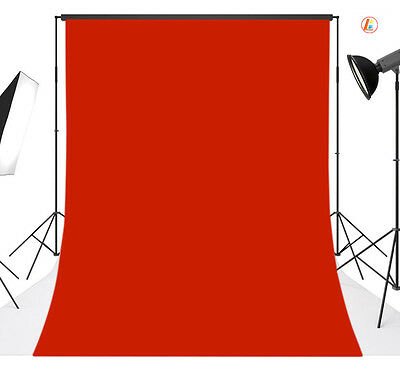 6x9FT Red Solid Vinyl Photography Backdrop Background Studio Photo Props 17