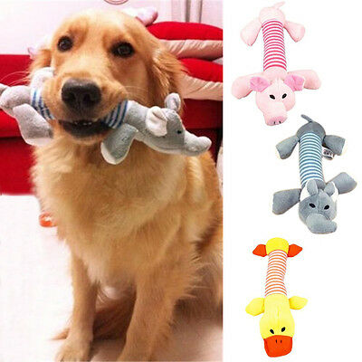 New Pet Puppy Chew Squeaker Squeaky Plush Sound Duck Pig Elephant Animal Toys