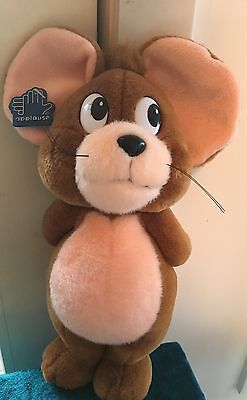 "12""JERRY Mouse Plush Toy, Tom & Jerry, 1992 Applause w/tag"