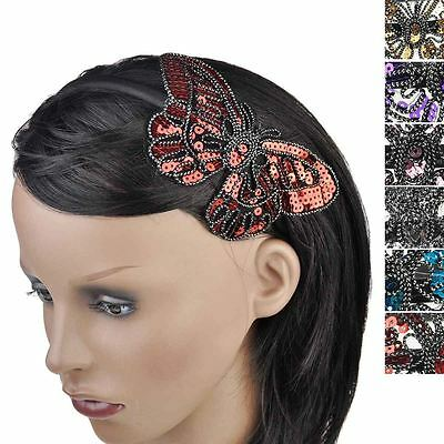 Women Butterfly Spangle Head aliceband hairband headband Shiny