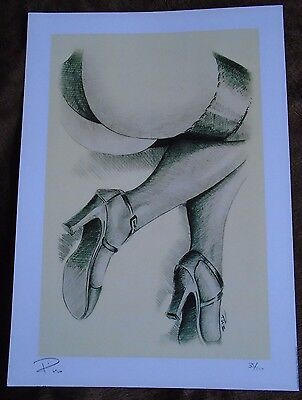 Set of 3 Legs in Stockings Pencil Drawings A4 Prints