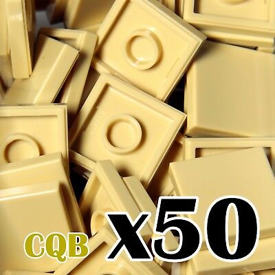 NEW LEGO - TILES - 50x Tan 2x2 - 2 x 2 - smooth flat tile