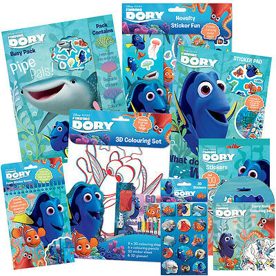 Disney FINDING DORY - Colouring Activity Sticker Packs Kids Party Bag Gift Wrap