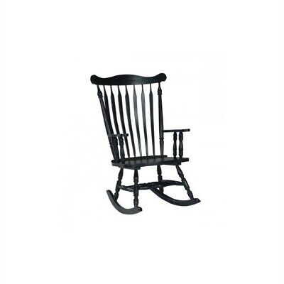 International Concepts Solid Wood Rocking Chair in Antique Black