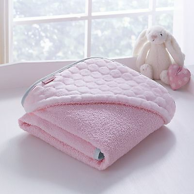 New Clair De Lune Pink Marshmallow Super Soft Hooded Bath Time Towel Great Gift