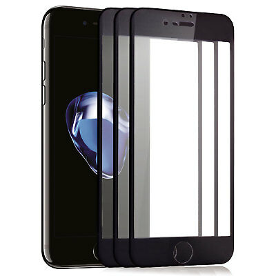 "3x 3D Displayschutz Panzerglas für iPhone 7 4,7"" Curved Full Cover Echt Glas 9H"