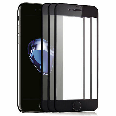 3x 3D Displayschutz Glas für iPhone 6S 6 komplett Full Cover 9H-Panzer Glasfolie
