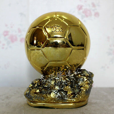 Ballon D'OR Trophy  Resin Golden Ball Award world cup FIFA World 20cm