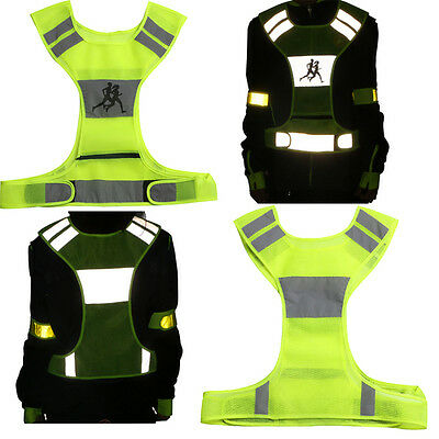 High Visibility Reflective Vest Night Work Sports Running Cycling Fluorescent