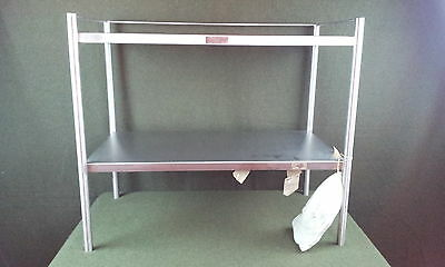 "New Stainless Steel 2 Shelf Wheeled Cart 33""L x 18""W x 32""H Serv-Queen"