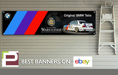 BMW e3 Warsteiner BTCC Banner for Workshop, Garage, Man Cave, M Sport, M3