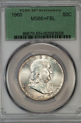 1960 Franklin Half PCGS Certified MS65+FBL Full Bell Lines (6678.33956x)