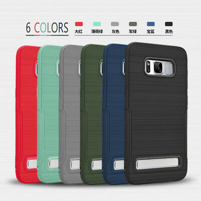 For Samsung Galaxy S8 S8 Plus Shockproof Hybrid Kickstand IMPACT Hard Case Cover