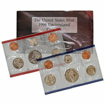 1996 P & D US Mint Set United States Original Government Packaging Box Cello