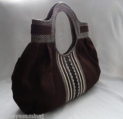 New Colombian canvas tote bag bolsoin brown