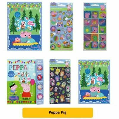 PEPPA PIG/GEORGE - Colouring Stickers Activity Packs/Pads Kids Party Gift Xmas