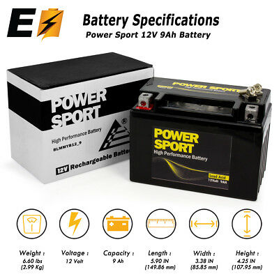 ExpertBattery YTX9-BS SLA Battery for Honda EU3000 2011