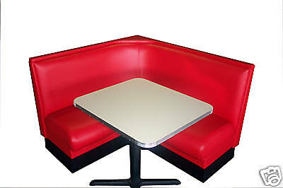 NEW DINER BOOTH SET - L Shape with Metal Trim Table!