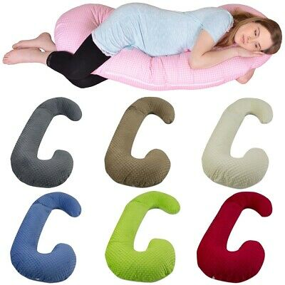 "Maternity/pregnancy/nursing support body pillow, cushion, minky fabric ""C"""