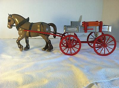 Hand Made Metal Wagon & Horse