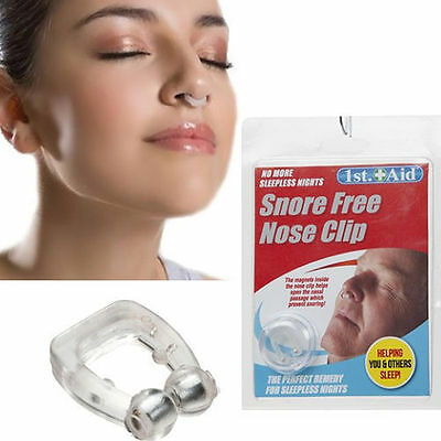 ANTI SNORE Men Women Nose clip Stop Snoring Sleep Aid Snore Free Night Magnet