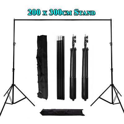 Photography Photo Studio Pro 2mx3m Background Stand Support Tripod Portable UK
