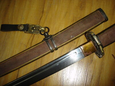 Japanese Samurai Sword MILITARY WWll  KATANA STRONG SHARP+ GIFT SWORD BUCKLE