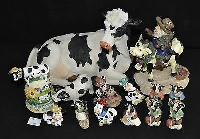 ThriftCHI ~ Cast Resin Cow Collection Figurines & Decorative NC Bell