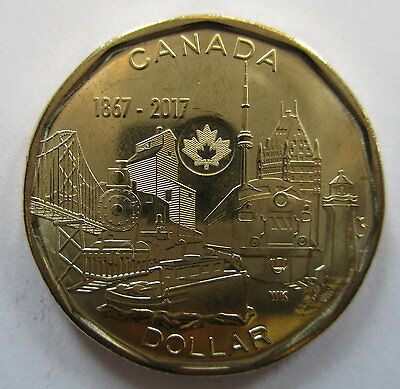 2017 Canada $1 1867-2017 150Th Anniversary Of Canada Brilliant Uncirculated Coin