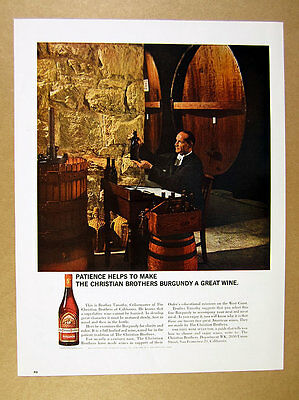 1964 Christian Brothers Wine cellarmaster cellar press casks photo print Ad
