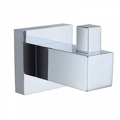 Square 304 Stainless Steel Bathroom Kitchen Clother Towel Accessories Robe Hook