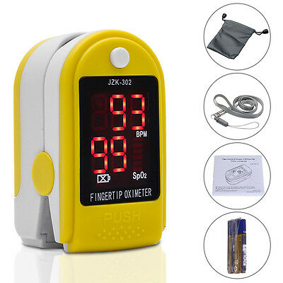 Pro Finger Pulse Oximeter Sensor Blood Oxygen SpO2 Monitor PR Heart Rate LED UK