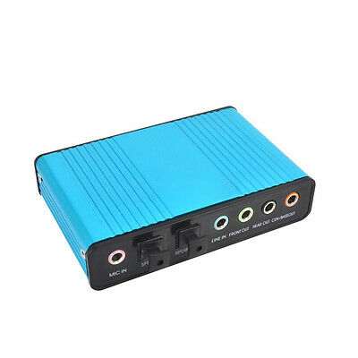 UK USB External 6 Channel 5.1 S/PDIF Optical Sound Card Audio Netbook Laptop PC