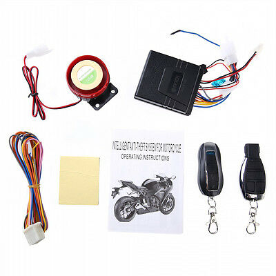 Motorcycle Motorbike 12V Anti-theft Security Alarm System Remote Control Engine