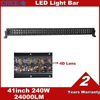 42inch 240W CREE LED Work Light Bar 4D Lens Offroad Fog Driving Combo Truck Lamp