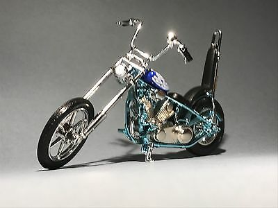 CHOPPER IRON MOTORBIKE scale 1:18 angel bars  diecast model toy bike car