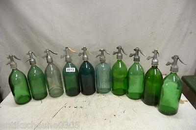 8813. 10 alte Sodaflaschen Siphonflasche Old soda siphon seltzer
