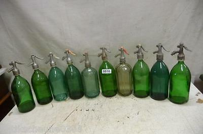 8816. 10 alte Sodaflaschen Siphonflasche Old soda siphon seltzer